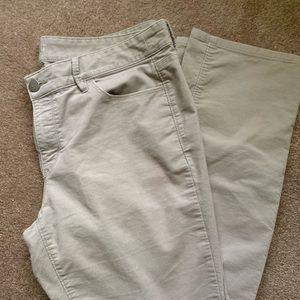 Loft Modern Straight Khaki Corduroy Pants